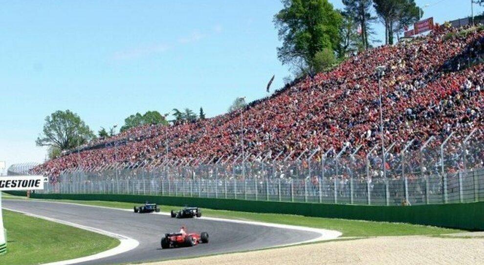 Una immagine di un Gran Premio di F1 degli anni Novanta
