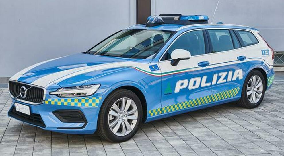 Una delle venticinque Volvo V60 in allestimento Polizia per le Autovie Venete