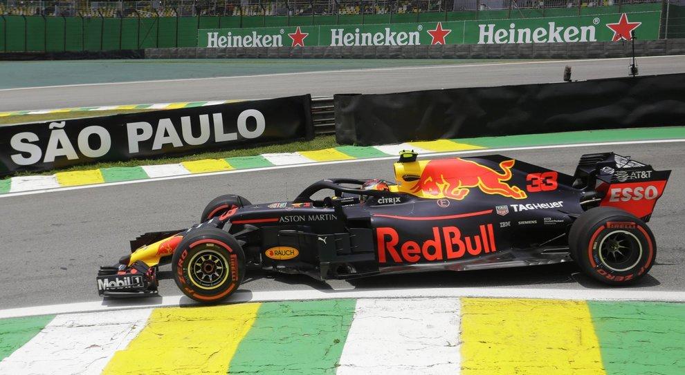 La Red Bull di Verstappen a Interlagos