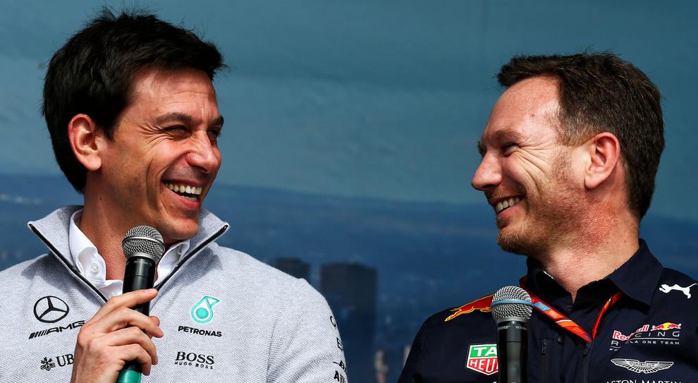 Toto Wolff e Christian Horner, team principal di Mercedes e Red Bull