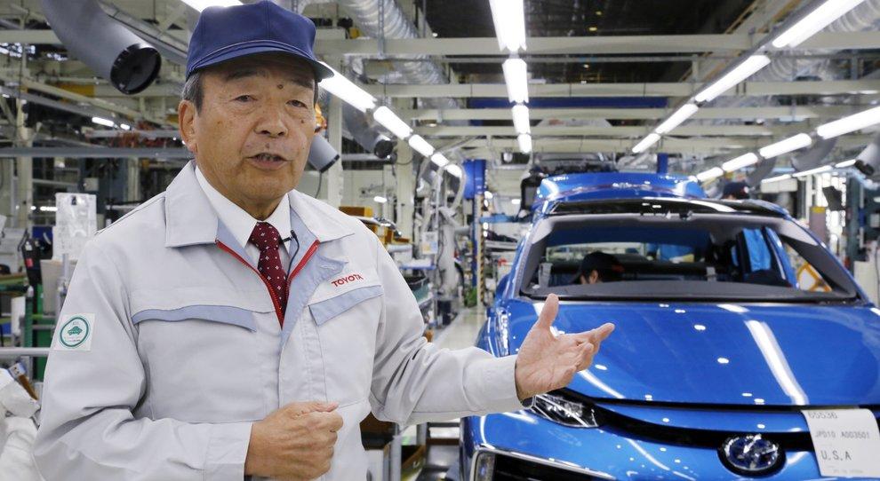 Takeshi Uchiyamada, presidente di Toyota Motor Corp.