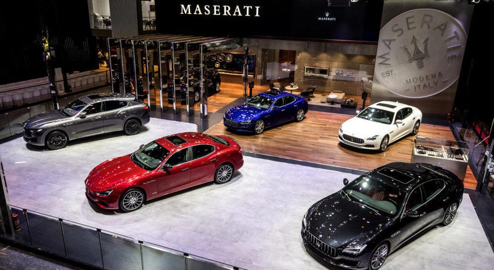 Una panoramica dello stand Maserati al Salone di Pechino 2018