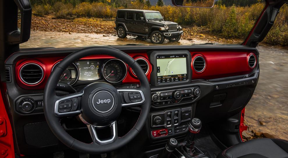 Gli interni della nuova Jeep Wrangler