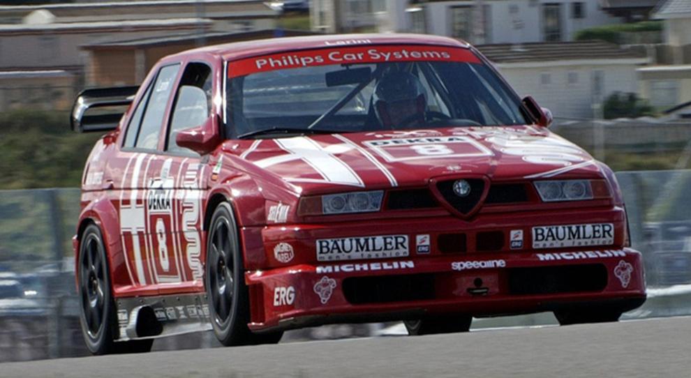 La Alfa Romeo 155 con cui Nicola Larini e Alessandro Nannini vinsero nel DTM del 1993 che sarà protagonista a Goodwood