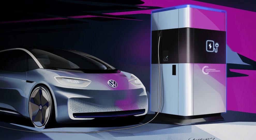 La stazione di ricarica mobile Volkswagen da 360 kWh