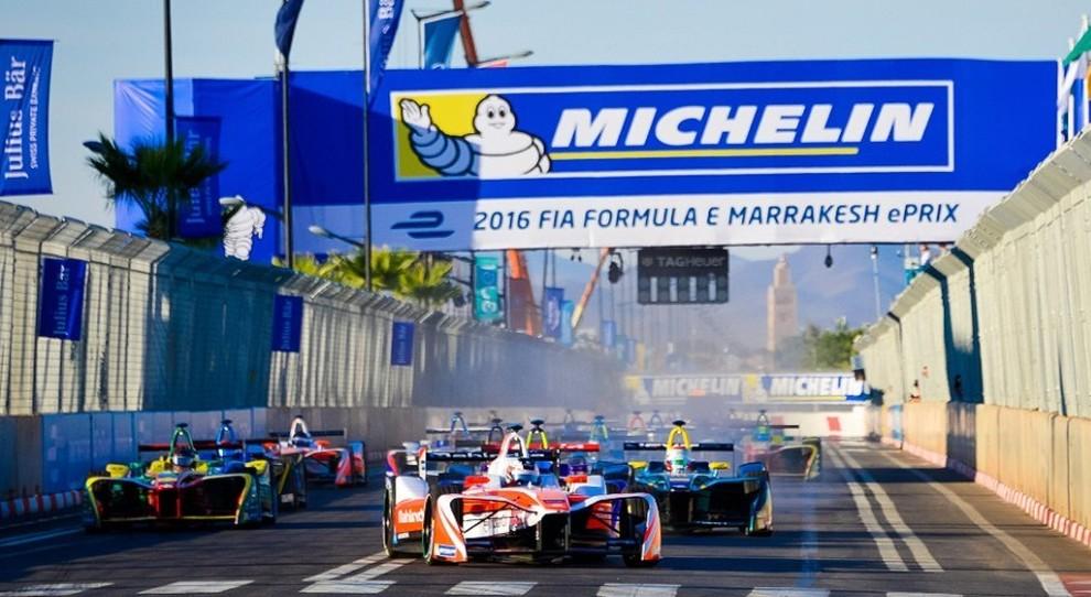 La partenza dell'e-Prix di Marrakech di due anni fa