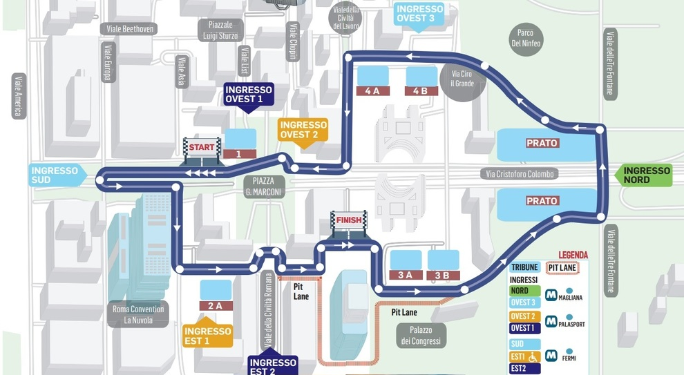 Formula E, lo spettacolo in diretta tv: Mediaset in campo, diretta dalle 15 La mappa