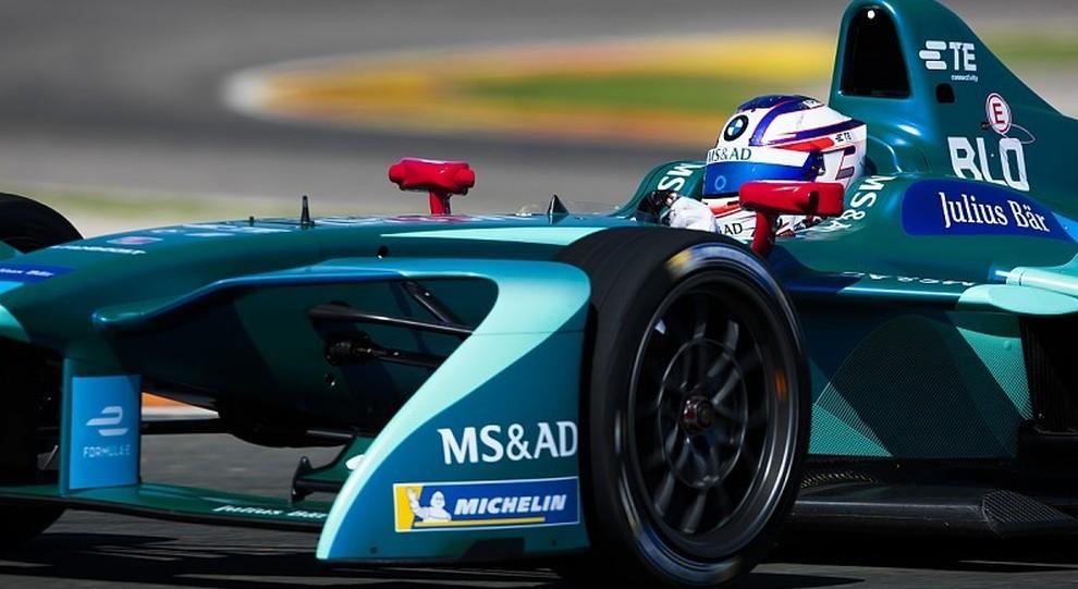 Tom Blomqvist al volante della Andretti di Formula E