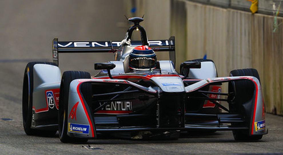 Edoardo Mortara al volante della Venturi all'e-Prix di HongKong