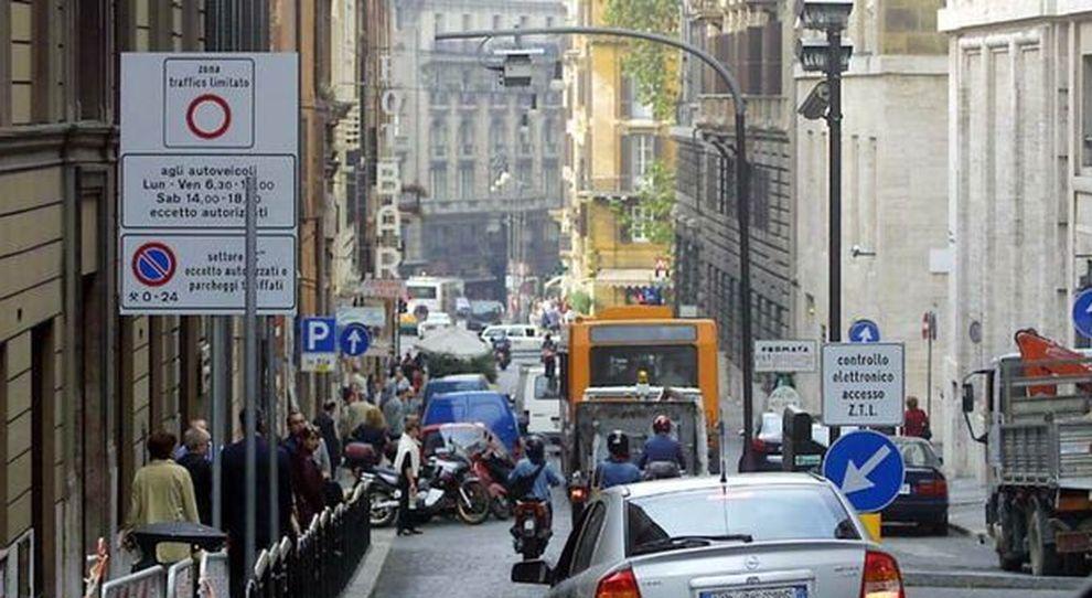 Un varco ZTL a Roma