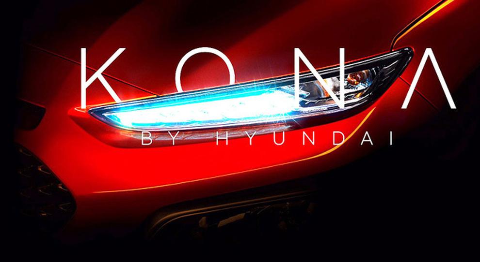 Il faro anteriore del nuovo Hyundai Kona