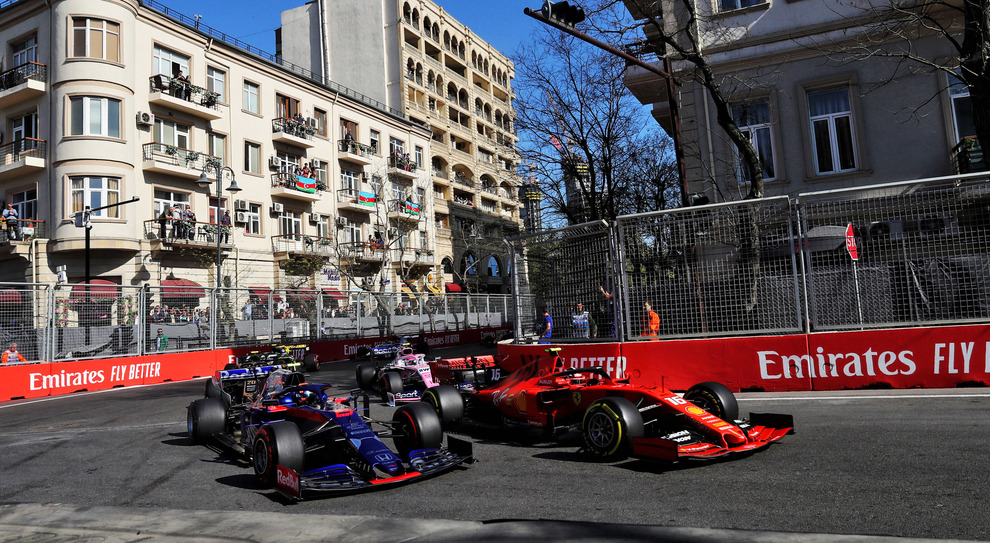 Una fase del GP di Baku 2019