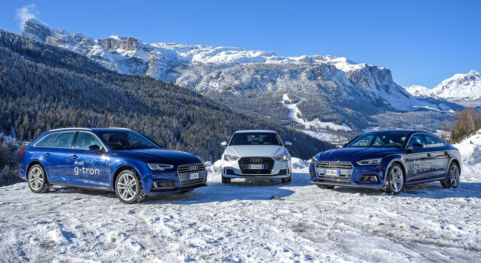 Le Audi g-tron: A3, A4 Avant e A5 Sportback alimentate a gas
