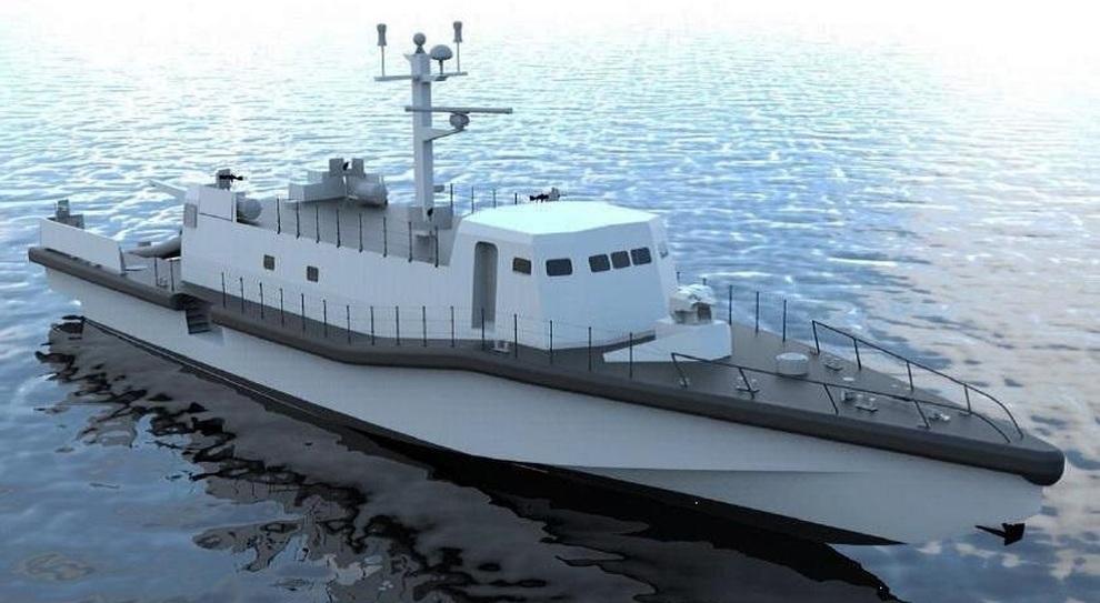 Il rendering della Unpav (unità navale polifunzionale ad Alta Velocità)