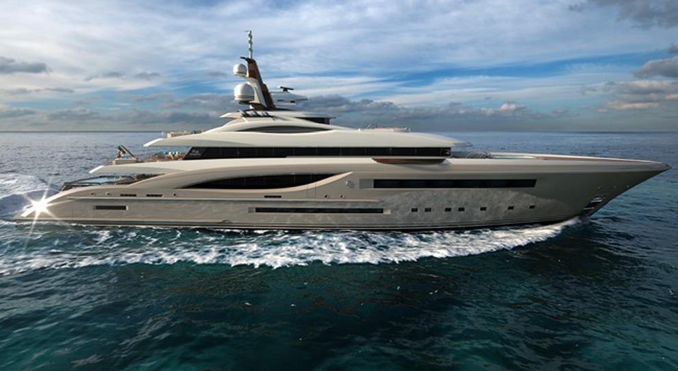 Il rendering del Griffin 66 di Fincantieri Yacht