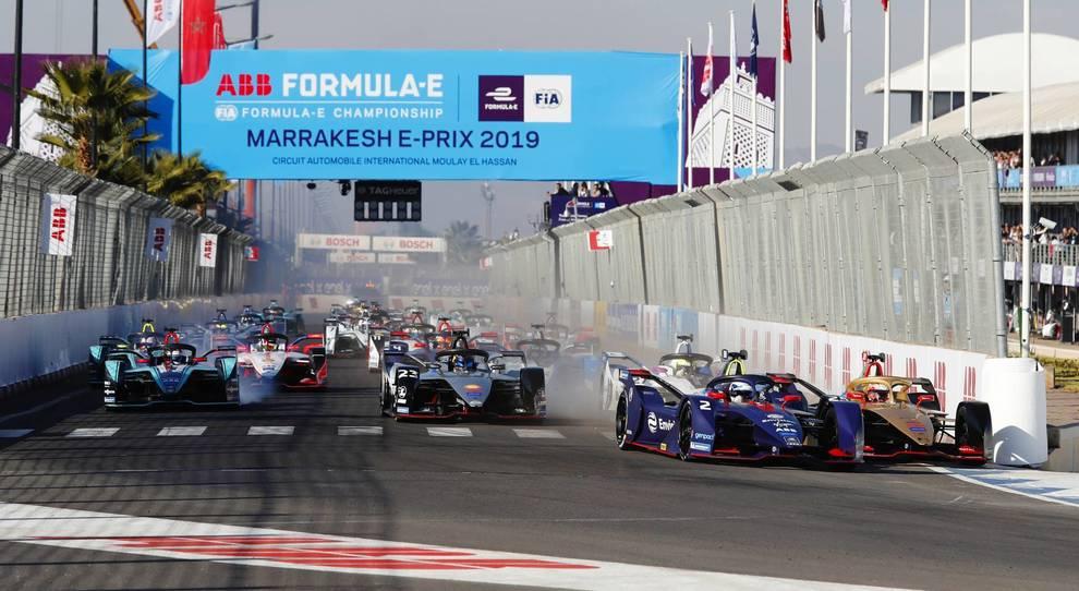 La partenza dell'Eprix di Marrakesh dello scorso anno