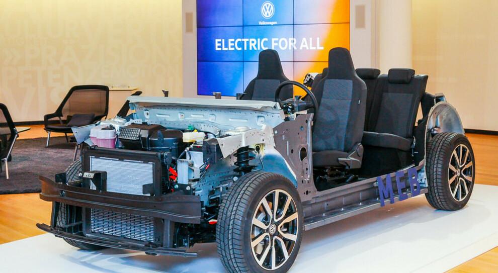 Un prototipo elettrico della piattaforma Meb per veicoli elettrici di Volkswagen