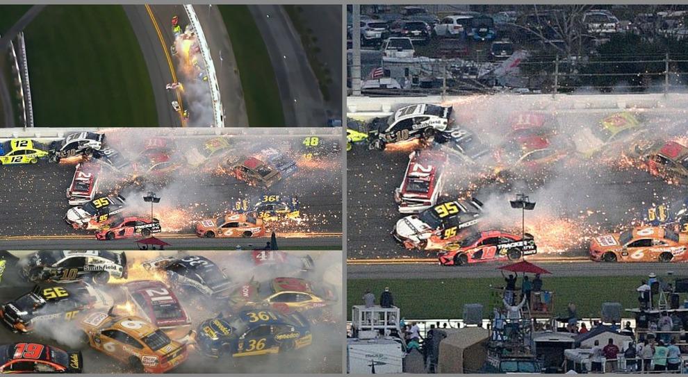 Maxi-incidente a Daytona, la carambola dei bolidi è da brividi