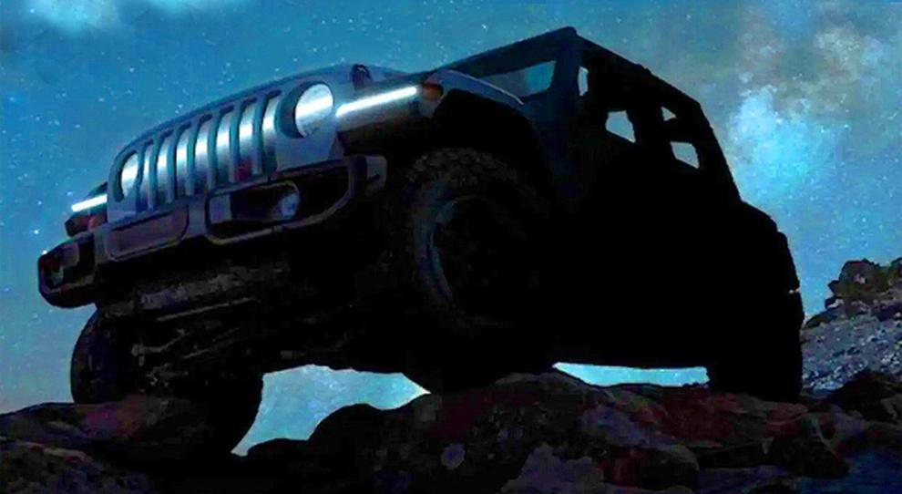 Il teaser Jeep che preannuncia la Wrangler elettrica