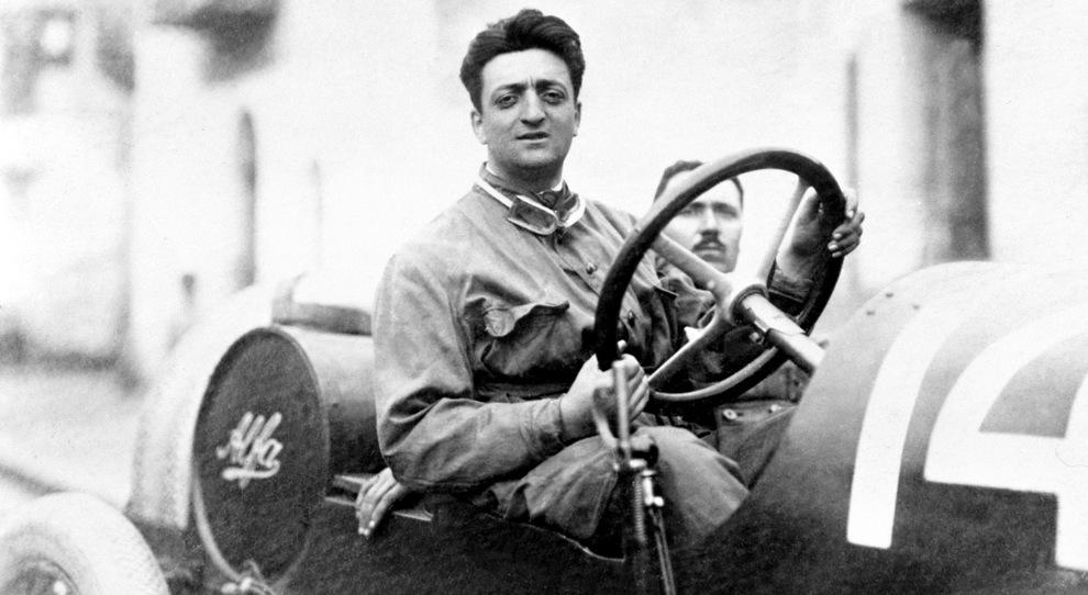 Enzo Ferrari quando era ancora un pilota Alfa Romeo