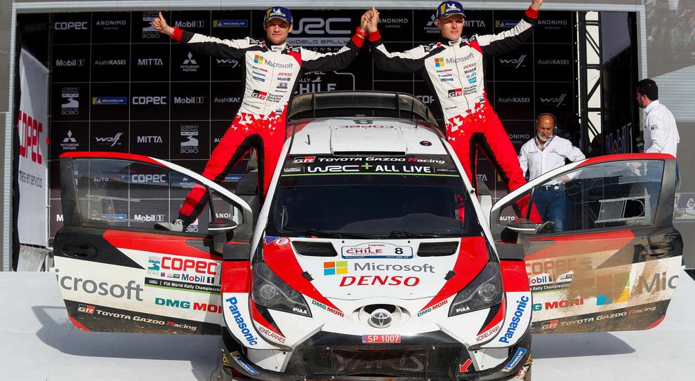 Toyota di Tanak trionfa in Cile. Ogier (Ford) di nuovo al comando del mondiale