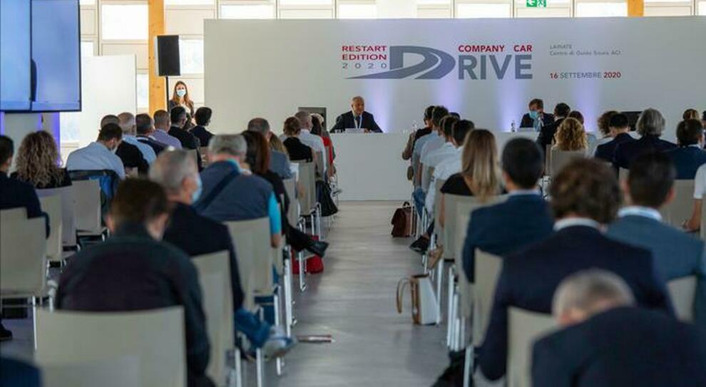 Un momento della conferenza stampa di apertura del  Company Car Drive