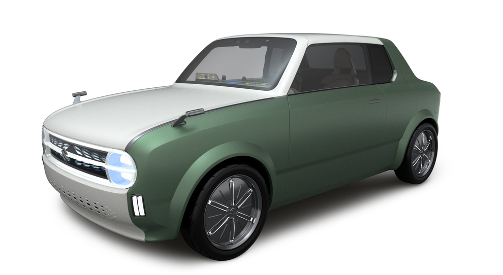 La Waku Spo, una vettura lunga 3 metri e 70 con carrozzeria coupè e che, grazie ad un meccanismo nella parte posteriore, può trasformarsi in una piccola wagon