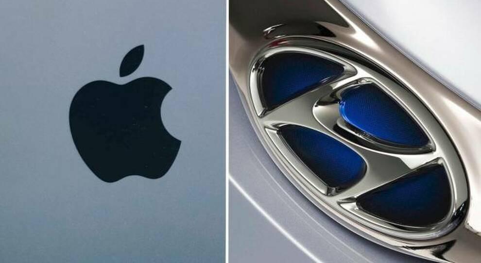 Simboli Apple e Hyundai