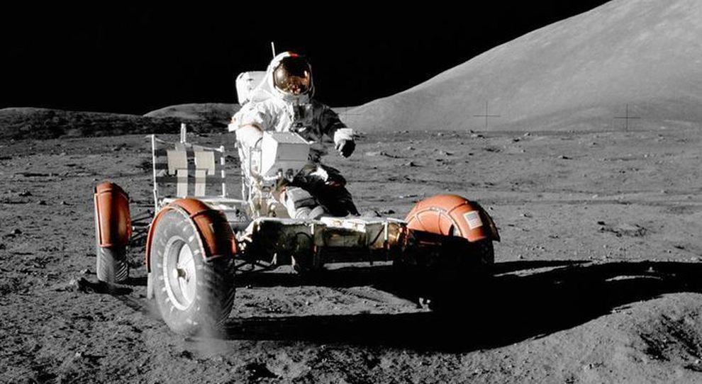 Uno dei tre Lunar Roving Vehicle