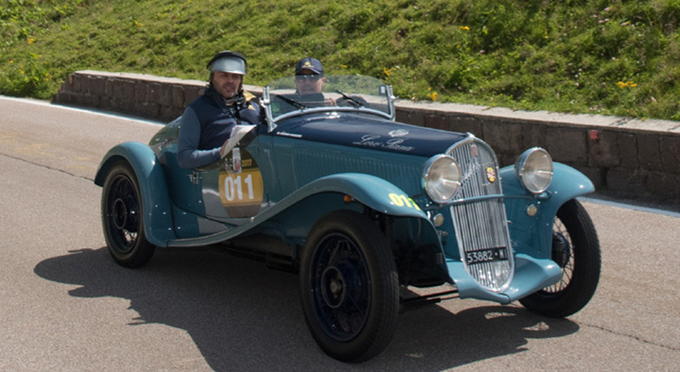 La Fiat 508 Spider Sport vincitrice dell'edizione dei 70 anni della coppa d'Oro delle Dolomiti