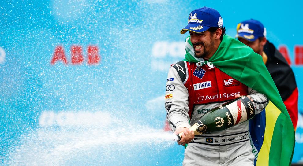 Lucas Di Grassi festeggia la vittoria a Zurigo
