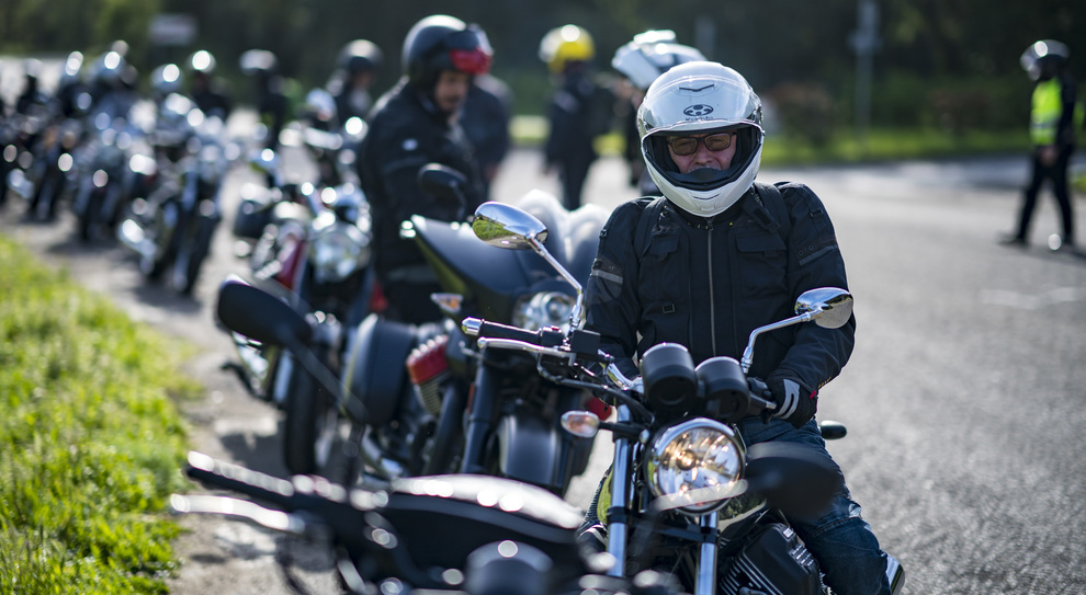 Alcuni dei partecipanti al Moto Guzzi Experience