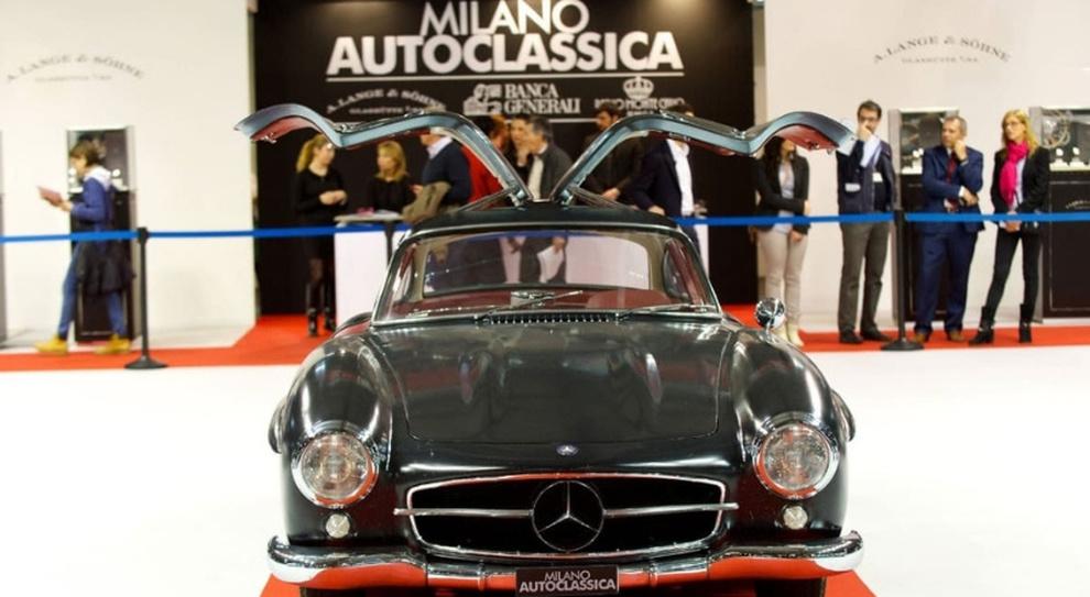 Una Mercedes a Milano Autoclassica