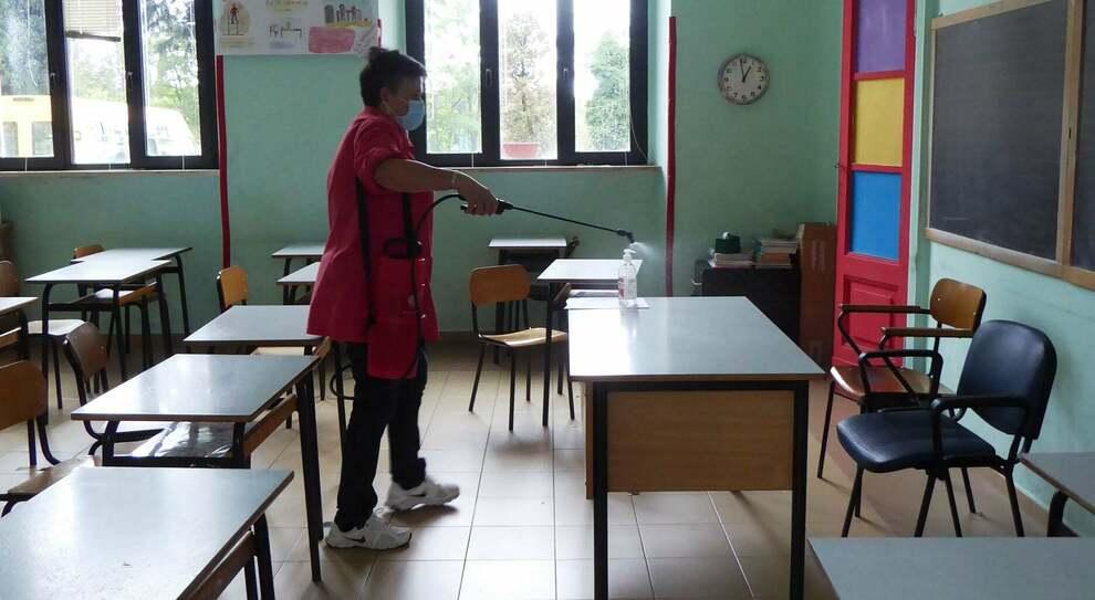 Sanificazione nella scuola di Vetralla