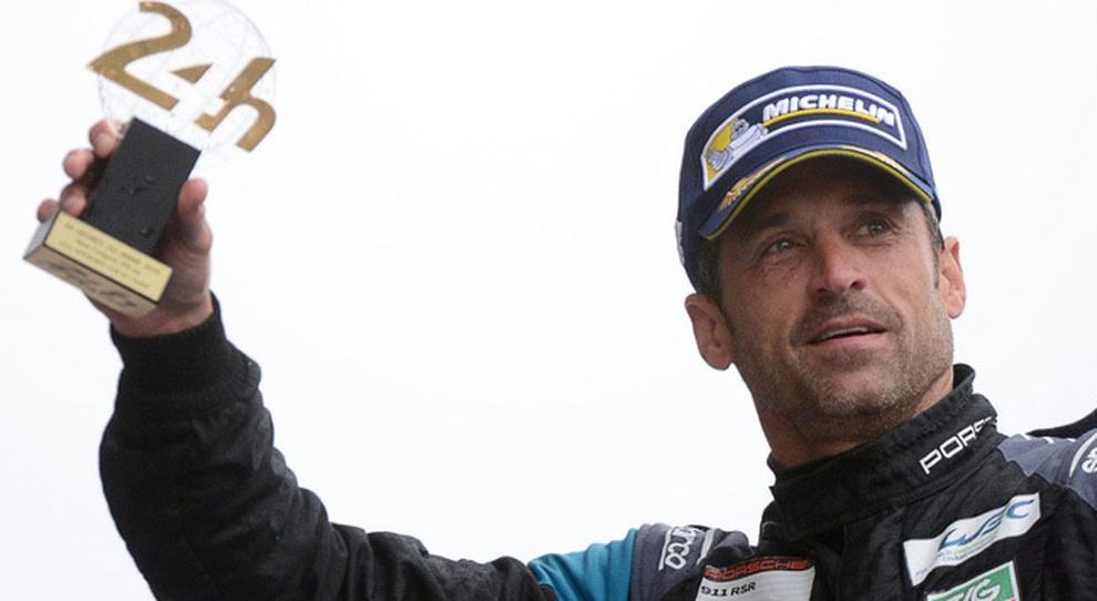 Patrick Dempsey sul podio a Le Mans