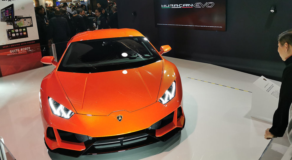 La Lamborghini Huracan Evo al Ces