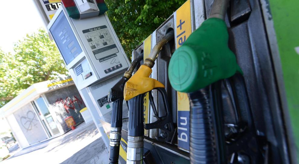 Un distributore di carburante
