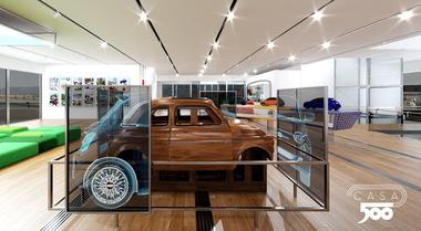 """Al Lingotto il museo della Fiat 500 inaugurato per i 63 anni. Ecco Virtual Casa il """"tempio"""" dedicato all'icona di moda e stile"""