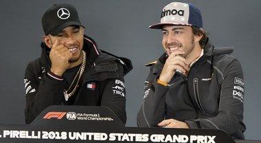 Gp Usa, Alonso: «Lewis un talento, sapevo che avrebbe vinto tanto. Lo ha fatto anche quando macchina non al top»