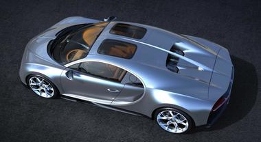 Bugatti Chiron, due finestre sul cielo per la hypercar con il nuovo tetto in vetro Sky View