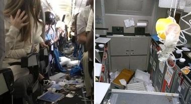 """Turbolenza pericolosa, i passeggeri """"volano"""" dentro l'aereo: 15 feriti sul Miami-Buenos Aires Video"""