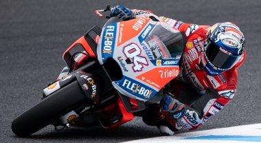 GP Giappone, Ducati di Dovizioso guida prime libere, 9°Rossi. Lorenzo prova ma è out per dolore al polso