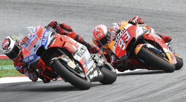 GP d'Austria, show Ducati: vince Lorenzo, Dovizioso sul podio dietro la Honda di Marquez