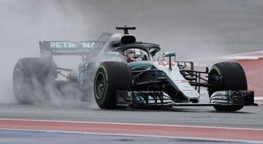 Gp Usa, Mercedes davanti nelle libere: sul bagnato Hamilton il più veloce, poi Bottas. 5° Vettel, Ferrari dietro alle Red Bull