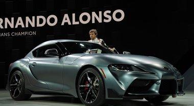 Nuova Supra, a Detroit Alonso tiene a battesimo il gioiello Toyota