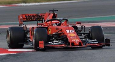 La Ferrari vola, Leclerc il più veloce nei test:«La Rossa dà sempre emozione, speriamo si prosegua così»