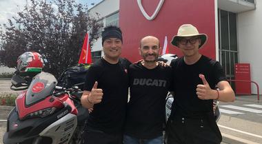 Ducati, per partecipare alla WDW dalla Cina a Misano con Multistrada 1200. Percorsi 7.575 km in 7 giorni
