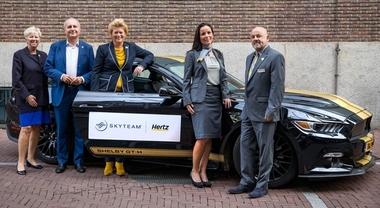 Hertz partner dell'alleanza tra compagnie aeree Skyteam. Arrivano i vantaggi sul noleggio vetture