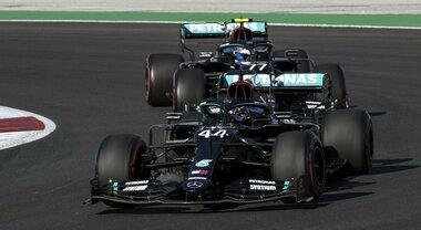 Portimao, 2° turno libero: ancora Bottas, incidente tra Verstappen e Stroll. Leclerc è 4°, Vettel 6°