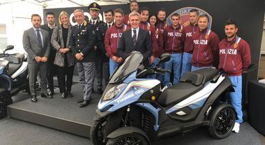 Quadro Vehicles consegna due Qooder alla Polizia di Stato. Gli scooter a 4 ruote in uso alle Fiamme Oro